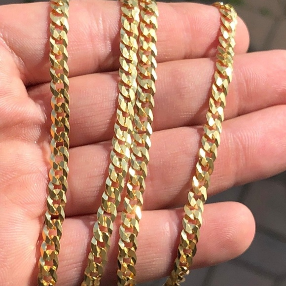 bd207451811fc 5mm Men's Miami Cuban Link Chain 14k Gold Over NWT